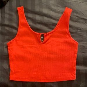 Notched Crop Tank